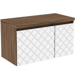 Gabinete para Banheiro em Mdf Mônaco 80cm Terracota E Branco - Darabas