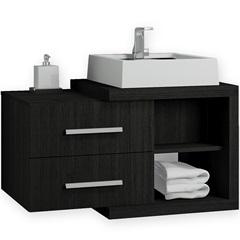 Gabinete para Banheiro em Mdf Nobile 80cm Wendel - Casanova