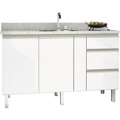Gabinete para Cozinha em Aço Gaia 146,4cm Branco - Cozimax