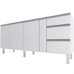 Gabinete para Cozinha em Aço Gaia 175,2cm Branco - Cozimax