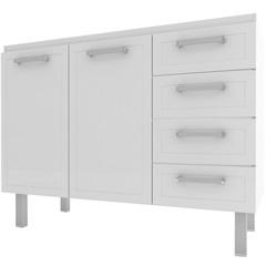 Gabinete para Cozinha em Aço Quality Flat 117,2cm Branco - Cozimax