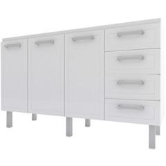 Gabinete para Cozinha em Aço Quality Flat 144,7cm Branco - Cozimax