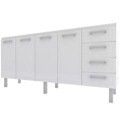 Gabinete para Cozinha em Aço Quality Flat 192cm Branco - Cozimax