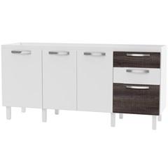 Gabinete para Cozinha em Mdf Buriti 174cm Branco E Dakota - Cozimax