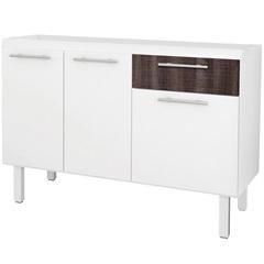 Gabinete para Cozinha em Mdf Gaivota 114cm Branco E Dakota - Cozimax