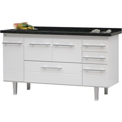 Gabinete para Cozinha em Mdf Life 150cm Branco - Bonatto