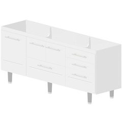 Gabinete para Cozinha em Mdf Life 200cm Branco - Bonatto