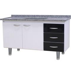 Gabinete para Cozinha em Mdf Milano 150cm Branco E Preto - Bonatto