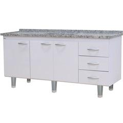 Gabinete para Cozinha em Mdf Milano 180cm Branco - Bonatto