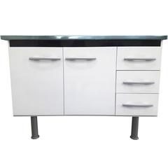 Gabinete para Cozinha em Mdf Sonic 150cm Branco E Preto - Bonatto