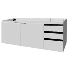 Gabinete para Pia 150cm Blu 2 Portas Branco - Bumi