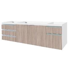 Gabinete para Pia 200cm Blu 2 Portas Branco - Bumi