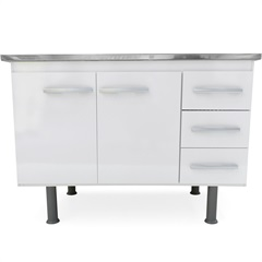 Gabinete para Pia de 120cm Sonic Branco - Bonatto
