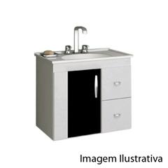 Gabinete Suspenso para Banheiro 650 Vitra Branco E Preto - Gaam