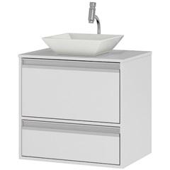 Gabinete Suspenso para Banheiro com Cuba Ferrara 60cm Branco - MGM Móveis