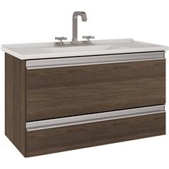 Gabinete Suspenso para Banheiro com Tampo Treviso 80cm  - MGM Móveis