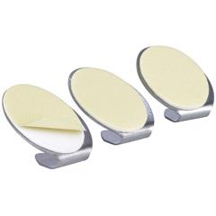 Gancho Inox com Adesivo Fixa Fácil com 3 Peças Pr2591 - Primafer