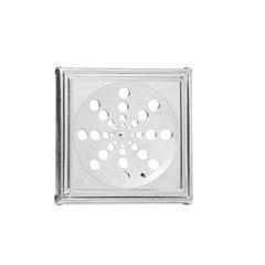 Grelha Quadrada com Caixilho Inox 15cm Ref. 119 a - Moldenox