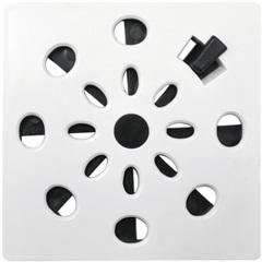 Grelha Rotativa Quadrada Branca 10  - Astra