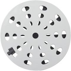 Grelha Rotativa Redonda 15 Cm Branca Grb 13 - Astra