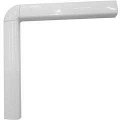 Guarnição em Alumínio para Porta Balcão 2 Folhas Una 210x120cm Branca - Casanova