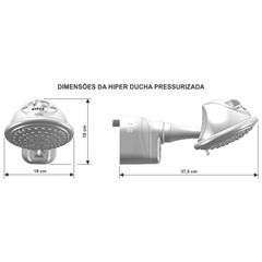 Hiper Ducha Pressurizada 7500w 220v Ref. Aq141 - Cardal