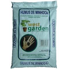 Húmus de Minhoca Saco com 2kg - West Garden
