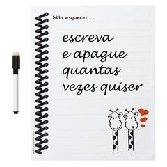 Ima de Geladeira Porta Recados Caderno Girafa - Risque e Rabisque