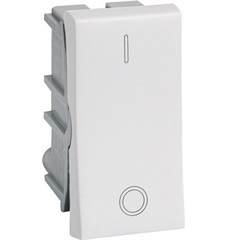 Interruptor Bipolar Simples 1 Módulo 10a 250v Pialplus Ref. 612005 - Pial Legrand