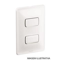 Interruptor Duplo Simples Zeffia 4x2 10 Ampéres 250v 680101 - Pial Legrand