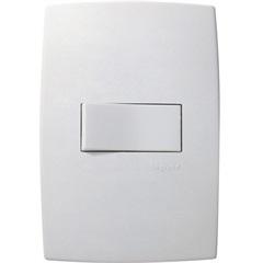 Interruptor Paralelo Horizontal 10a 220v com Placa Pialplus Branco - Pial Legrand