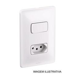 Interruptor Paralelo Mais Tomada  Zeffia 680114 4x2 10 Ampéres - Pial Legrand