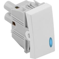 Interruptor Simples com Luz 10a 250v Branco S30 - Simon