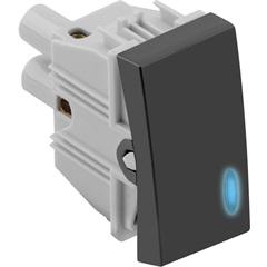 Interruptor Simples com Luz 10a 250v Grafite Fosco S30 - Simon