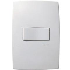 Interruptor Simples Horizontal 10A 220v com Placa PialPlus Branco