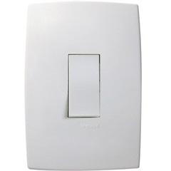 Interruptor Simples Vertical com Placa Pialplus Ref. 611100 - Pial Legrand