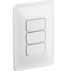 Interruptor Triplo Simples Zeffia 4x2 10 Amperes - Pial Legrand