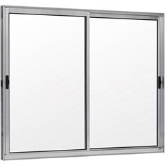 Janela 2 Folhas Móveis de Alumínio sem Bandeira Linha Prata 100x120cm - Ebel