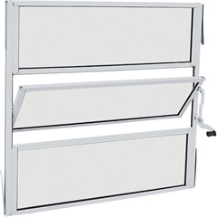 Janela Basculante sem Grade Alumifit 60x60cm Branca