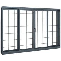 Janela Belfort Grade Quadriculada Interna 100 X 200 Cm - Ref. 6341592-8 - Sasazaki