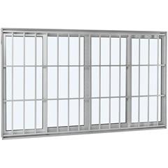 Janela de Correr  Branco 1,00x2,00x12cm - Ref: 70626080  - Sasazaki