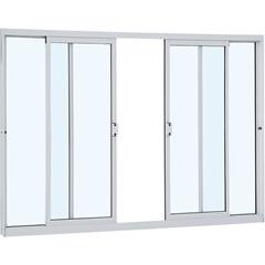 Janela de Correr Central sem Grade Alumifit 100x150cm Branca - Sasazaki