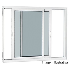 Janela Integrada Reflex Branca 100x120 Ref.: 70516535  - Sasazaki