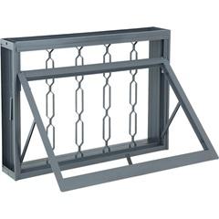 Janela Maxim-Ar com Grade Elo Silenfort 60,5x80,5cm Cinza - Sasazaki