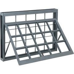 Janela Maxim-Ar com Grade Quadrada Silenfort 40,5x60,5cm Cinza - Sasazaki