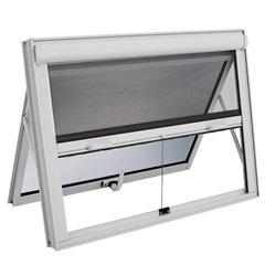 Janela Maxim-Ar com Tela Mosquiteiro Integrada Alumifort 60x60cm Branca - Sasazaki