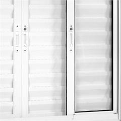 Janela Veneziana 6 Folhas de Alumínio sem Grade Branca Una 100x120cm - Casanova
