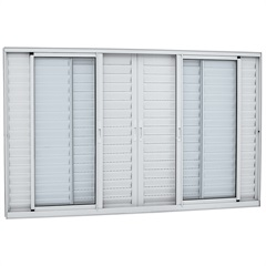 Janela Veneziana Central Alumifort 120,5x150,5cm Branca - Sasazaki