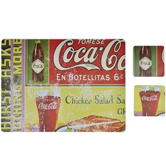 Jogo Americano Coca-Cola En Botellitas - Urban