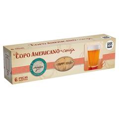 Jogo de Copos Americano 190ml com 6 Peças - Nadir